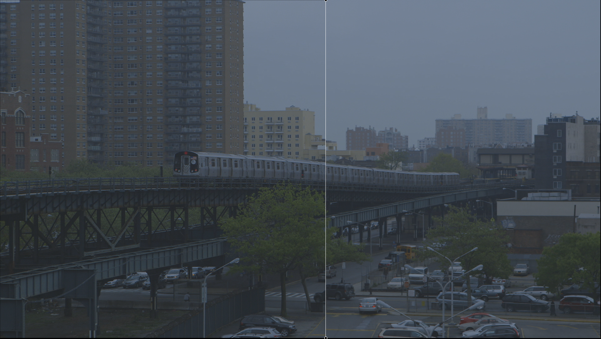 Steady - Long lens causes camera shake - fixed and image zoomed on left