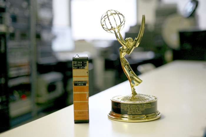 Yep...that is an Emmy....